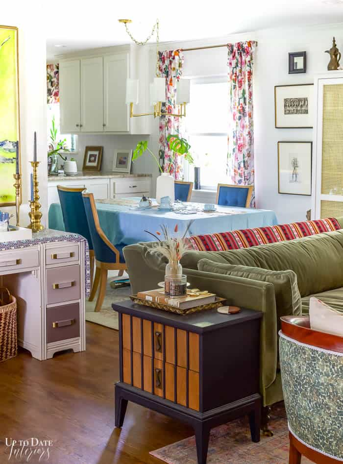 Living And Dining Rooms Summer Home Tour Eclectic Decor