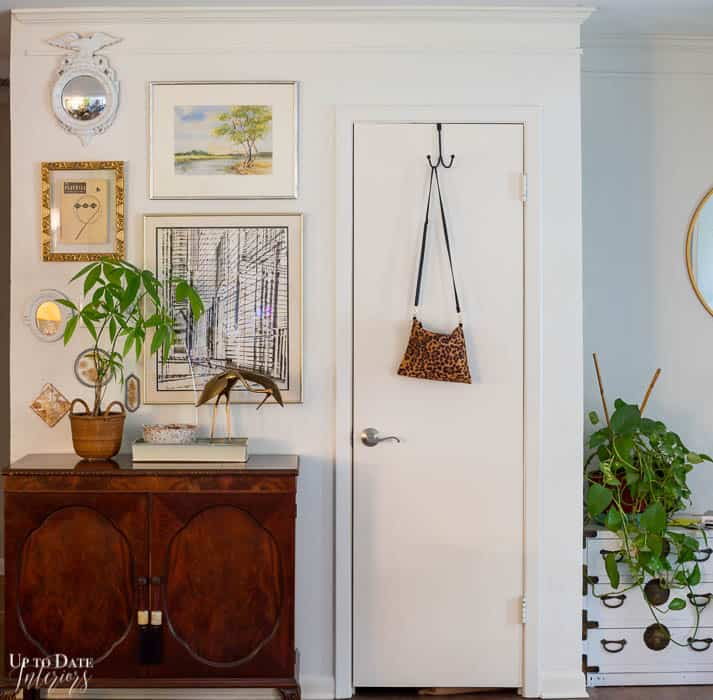 Foyer cabinet and art wall